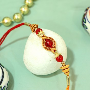 Red Stone Pearl Rakhi