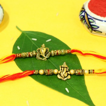 Set of 2 Ganesha Rakhi