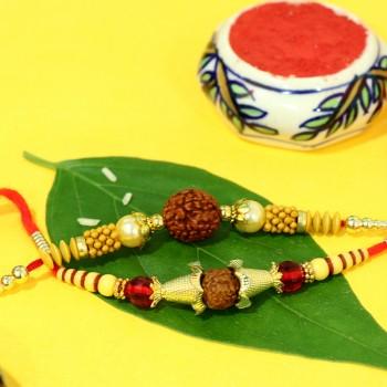 Set of Rudraksh Rakhi