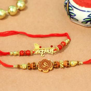 Blissfully Auspicious Rakhi Set