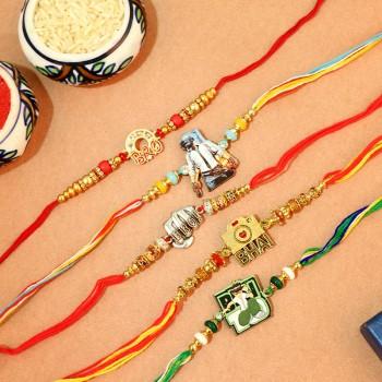 Set of 5 Rakhi