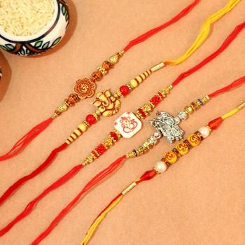 Set of 5 Divine Rakhi