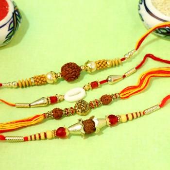Set of 4 Traditional Rakhi