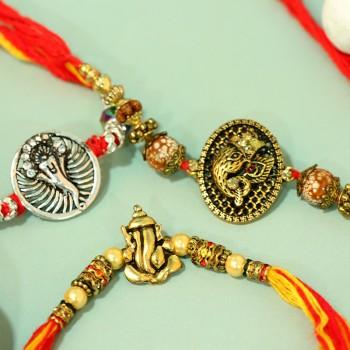 Set of 3 Ganesha Rakhi