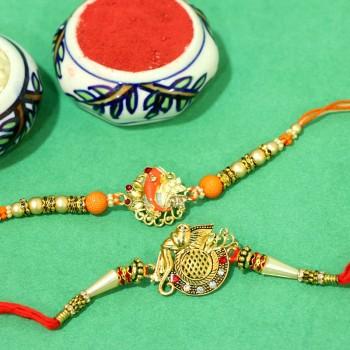 Set of Designer Ganesha Rakhi