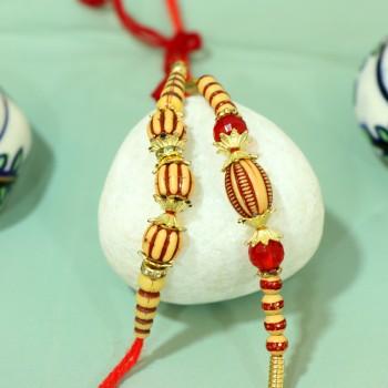 Set of 2 DEsigner Beads Rakhi