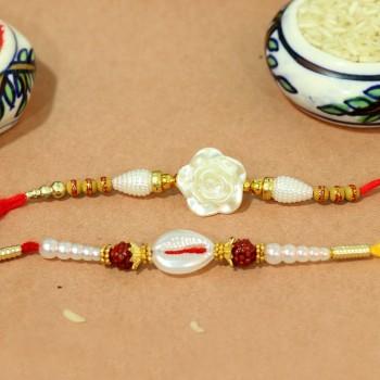 Set of 2 Designer Pearl Rakhi