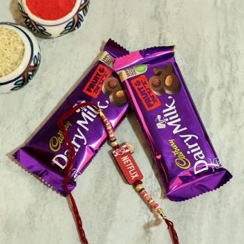 Set Of Candy N Designer Rakhi
