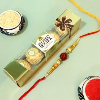 Ferrero Rudraksha Rakhi Combo