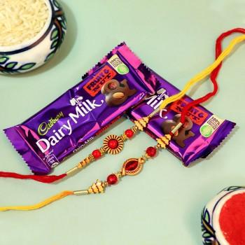 Rozy Rakhis with Chocolates