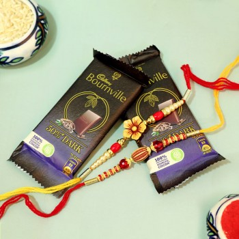 Gorgeous Rakhis with Bournville Combo