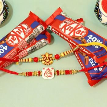 Ganesha Rakhi Combo with Chocolates