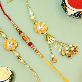 Traditional Triple Rakhi Pack