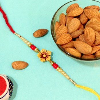 Floral Rakhi with Almonds