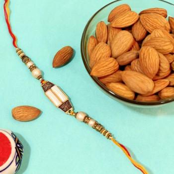 Wonderful Pearl Rakhi with Almonds