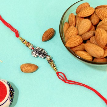 Bro Love Rakhi with Almonds