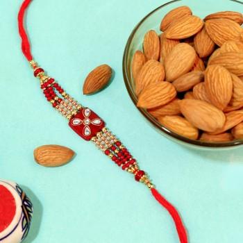 Royal Kundan Rakhi with Almonds