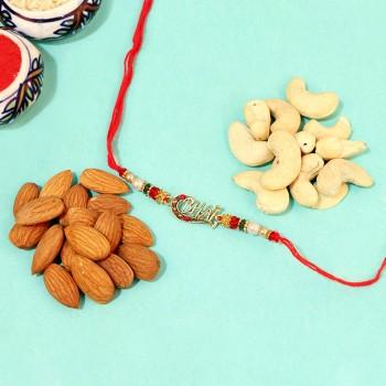Alluring Designer Rakhi with crunchies