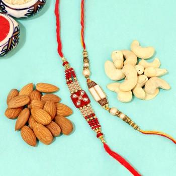 Glowing Rakhi n Nuts Combo