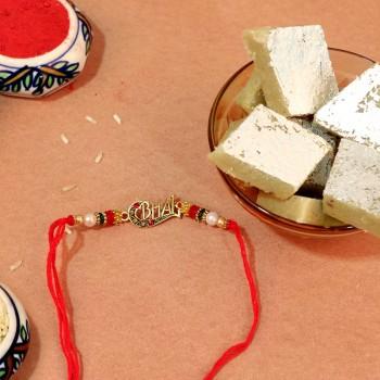 Delightful Designer Rakhi With Sweet