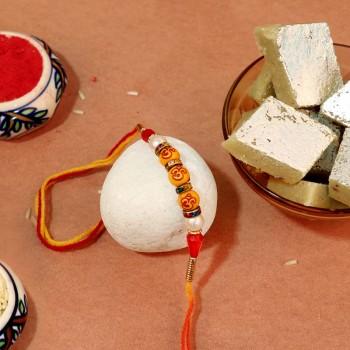 Traditional Rakhi With Yummy Sweet