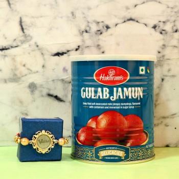 Gold Embellished Rakhi Treat