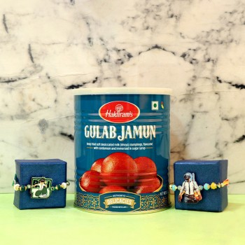 Set Of 2 Rakhi Set N Gulab Jamun