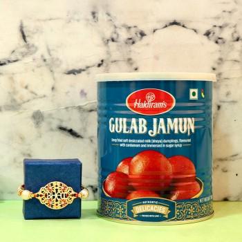 Delectable Gulab Jamun With Rakhi