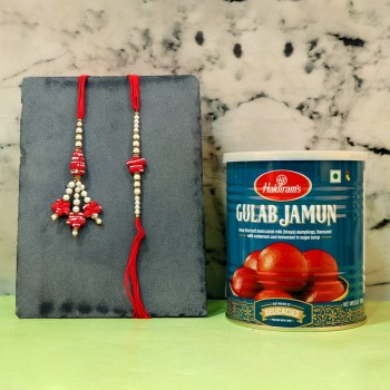 Appetizing Stone rakhi Treat