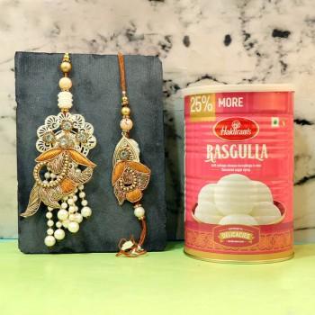 Adorable Rakhi With Rasgulla