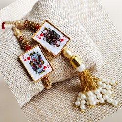 King And Queen Rakhi Set