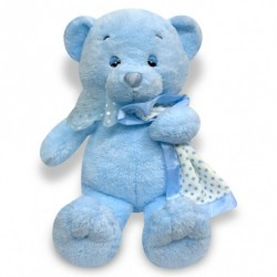 Blue Teddy With Towel