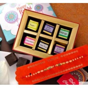 Beads And Pearl Rakhi