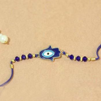 Fancy Blue Evil Eye Rakhi