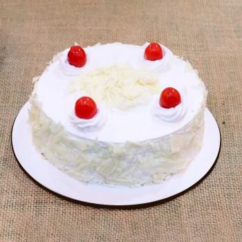 Half Kg Sugarfree White Forest Cake