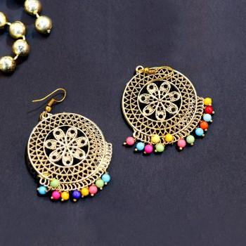 Metallic Gold Plated Earrings