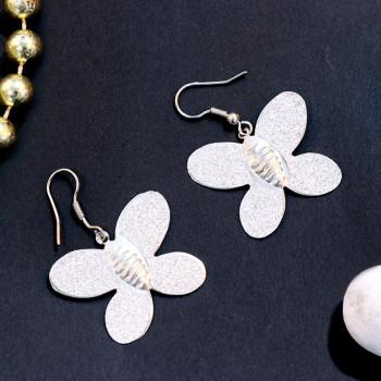 Precious Silver Butterflies Earrings