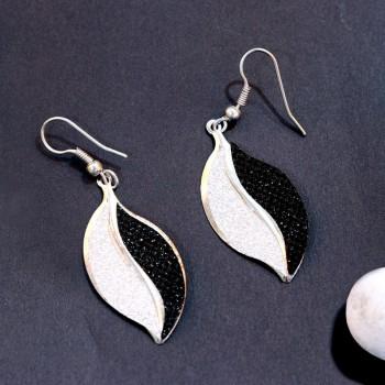 Ethnic Silver Earrings Set