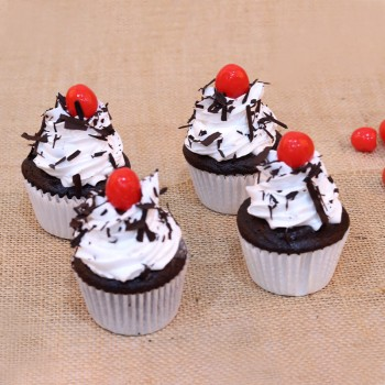 Set of 4 Black Forest Cupcakes