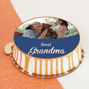 Lovable Grandma Photo Cake
