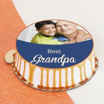 Delightful Grandpa Photo Cake
