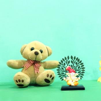 Adorable Ganpati with Teddy: