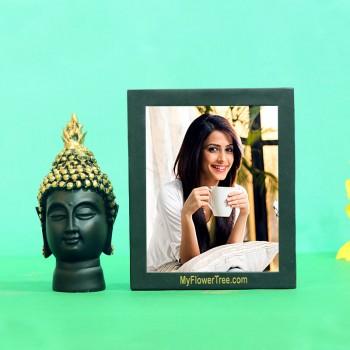 Elite Budha with Photo Frame