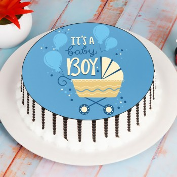 Vibrant Baby Boy Cake