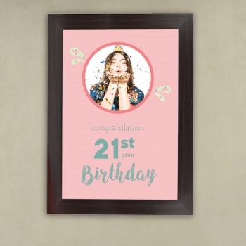 21st Birthday Photo Frame