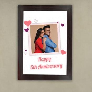 5th Anniversary Romance Frame