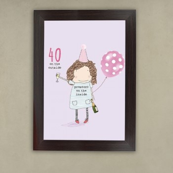 Savage 40th Birthday Frame