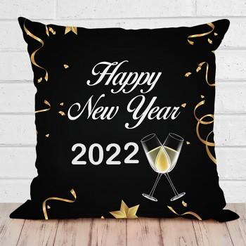 Happy New Year Printed Cushion