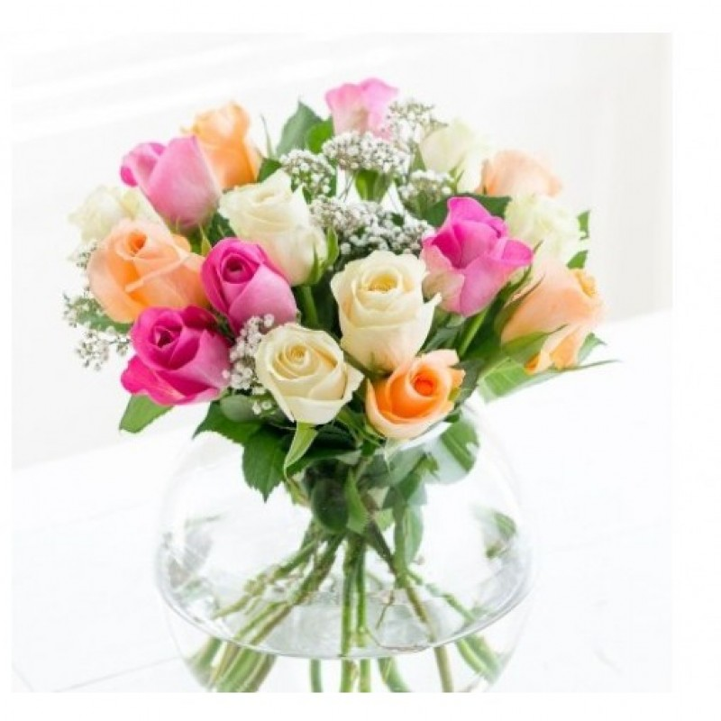 15 Mix Roses Bouquet