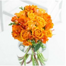 Autumn Roses n Freesia